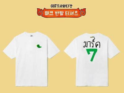 Got7 Got 7 Real Thai Official Goods Mark T-Shirt T-Shirts + Photocard New