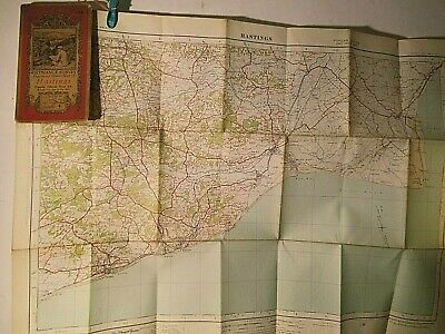 Hastings, Rye,Winchelsea Sussex-Kent:1921-1930'S Ellis Martin Cover Ordnance Map