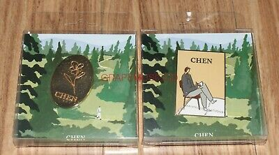 CHEN EXO April, and a flower SMTOWN GIFTSHOP OFFICIAL GOODS BADGE SET NEW