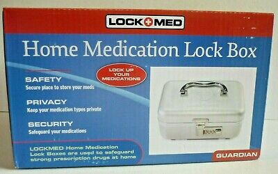 Lockmed Home Medication Lock Box Guardian, Drug Safety & Security Model ASA 1200