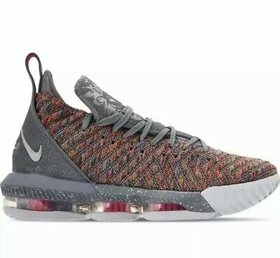 separation shoes 56b55 35aba Nike Lebron XVI 16 Multi-Color Metallic Silver Sz 10 BQ5969-900 New Full