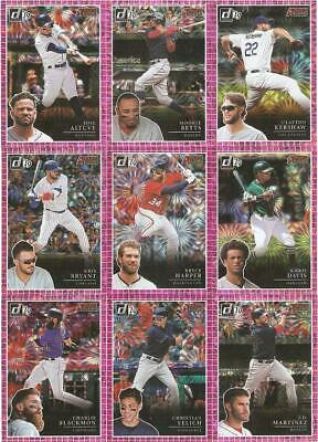 2019 Donruss Action All-Stars Pink Firework Parallel Inserts ***You Pick***