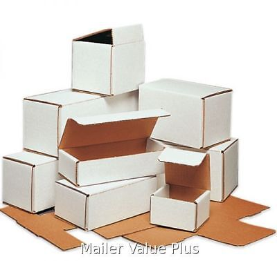500 - 6 x 2 x 2 White Corrugated Shipping Mailer Packing Box Boxes