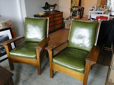 """Stickley Mission Lounge Chair - Fayetteville Finish 1993 - 39"""" x 32"""" x 30"""""""