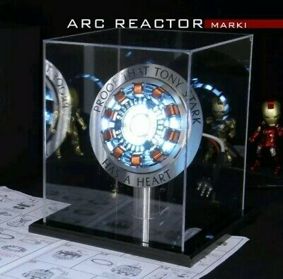 Iron Man 1:1 Arc Reactor Proof Tony Stark Has A Heart Mk1 Led Light Diy Display