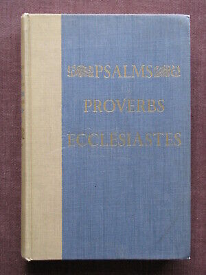 N/A / BOOK of Psalms and Proverbs original printing from