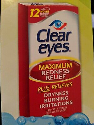 Clear Eyes Maximum Redness Relief Eye Drops - 0.5 oz, 10 Pack exp 08/20