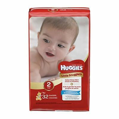 2 Pack- Huggies Little Snugglers Baby Diapers, Size 2, Total 64 Diapers, NEW!