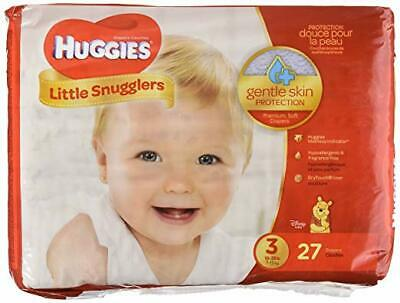 3 Pack- Huggies Little Snugglers Baby Diapers, Size 3, Total 81 Diapers, NEW!