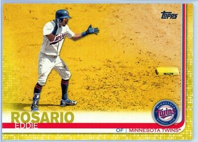 EDDIE ROSARIO - 2019 Topps #258 YELLOW Parallel SHORT PRINT Walgreens Excl TWINS