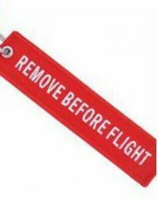 Fabric Key Ring Remove Before Flight Keychain Pilot Bag Tag Luggage Keyring