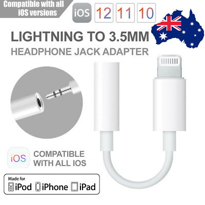 Lightning to 3.5mm AUX Headphone Audio Jack Adapter Cable iPhone7/8/X/XS/Max/ XR