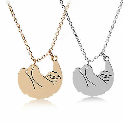 Charm Women Sloth Pendant Necklaces Choker Clavicle Chain Jewelry Wedding Gift