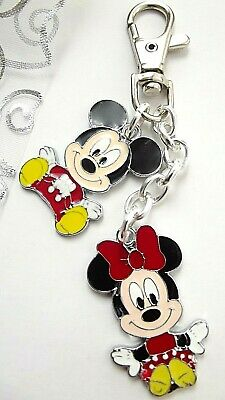 Micky Minnie Mouse Strong Key Ring Swivel Clasp Silvery Gift Box Birthday Party