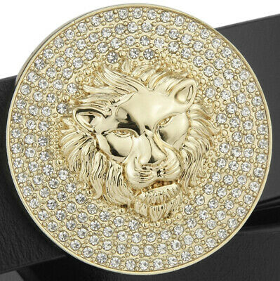 Lion Diamonds Mens Womens Pin Buckle Only For 38 Mm Belts Unisex Belt Buckles