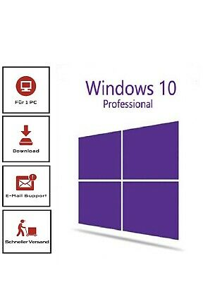 Microsoft Windows 10 Pro  Professional 32/64 Bit ✔️ 1PC ✔️ Key + Download