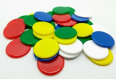 SMALL Counters 15mm diameter. Mixed and single colours. Tiddlywinks x100