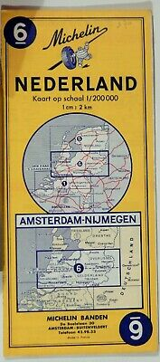 VTG  NETHERLANDS  1972 Folded Road Map MICHELIN #6 COLLECTIBLE