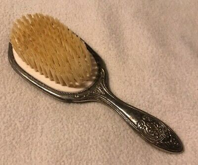 Vintage Victorian Silver Plated Hairbrush