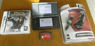 Nintendo DS Lite Handheld Console Black with Power Pack and DS & GBA Games