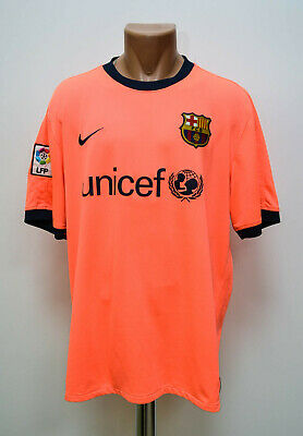 37aeaaf9e08 Barcelona Spain 2009/2010 Away Football Shirt Jersey Nike Size Xl Adult
