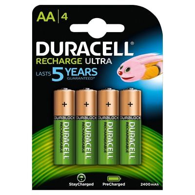 Duracell AA 2500mAh PreCharged Rechargeable Batteries Pack of 4