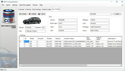 💡 2019 Bmw Coding Database 1.4 Software New Version For E-Sys Esys F E G Series