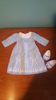 American Girl Doll Caroline Birthday Dress and Shoes