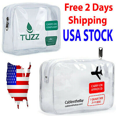Cableinthebay TSA Approved Clear Travel Toiletry Bag Transparent Carry-On Bag