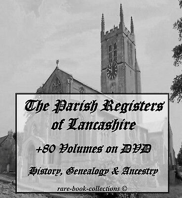 +80 Lancashire Parish Registers On Dvd - Ancestry Family Tree History Genealogy