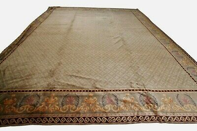 Sothebys Antique French Savonnerie Rug Arts &Crafts 442x493cm 15x16 Green c.1890