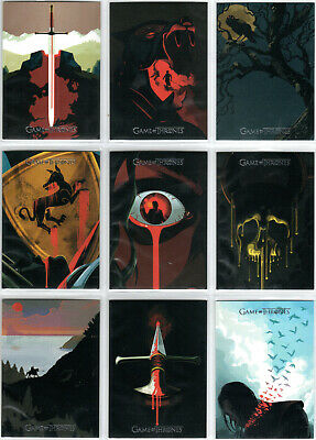 Game Of Thrones Season 4 Beautiful Death Rare Insert Set Bd1-Bd20 (20)