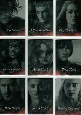 Game Of Thrones Season 4 Valar Morghulis Rare Insert Set G1-G20 (20)