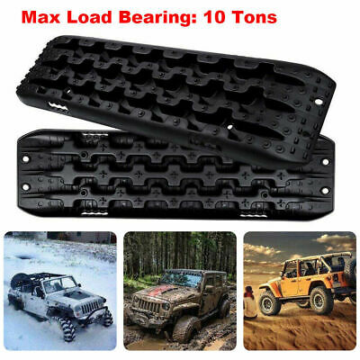Areyourshop 2 PCS Recovery Traction Sand Tracks Snow Mud Track Tire Ladder 4WD Off Road Orange