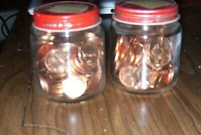 5 1959 P Unc Penny Rolls  Lincoln Memorial Cents 250 Pennies