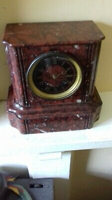 ANTIQUE.  French. movement marble, mantel clock