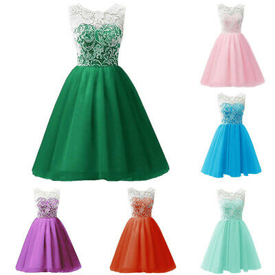 7-13 Years Girls Floral Dress Kids Summer Party Dresses Age Wedding Bow Dress #