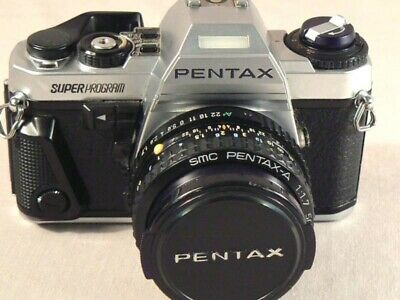 Pentax Super Program 35mm SLR Film Camera with F/1.7 50mm Lens Excellent