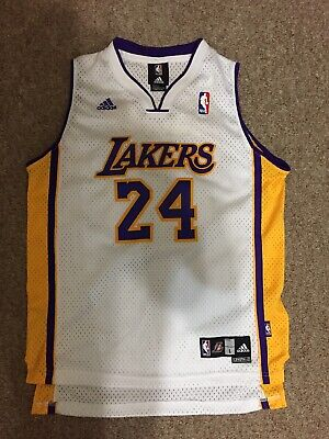 74744da2df8 Adidas Kobe Bryant  24 Los Angeles Lakers White Nba Basketball Jersey Youth  L