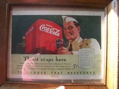 COCA-COLA VINTAGE ADS Lot  X 3 See Info Ect  - £0 99