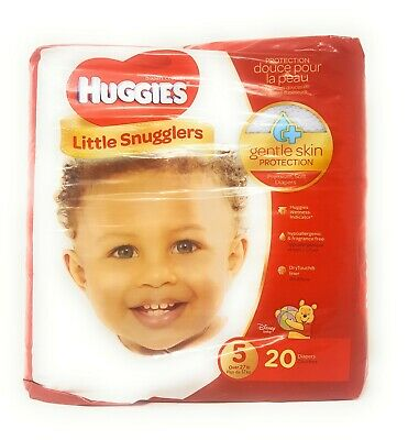 3 Pack- Huggies Little Snugglers Baby Diapers, Size 5, Total 60 diapers, NEW