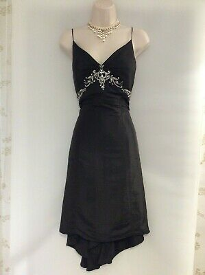 Party Dress,Evening,Prom,50'S,60'S,Starlet,Vintage Style,Black,Beaded,Size 12