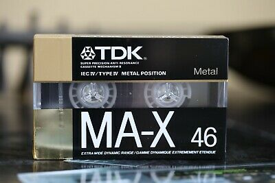 TDK MA-X Metal Type IV audio cassette new and sealed 1988