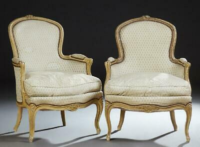 Gorgeous Pair of Louis XV Style Bergeres, Chairs, First half 20th Century!!