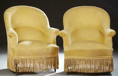 Charming Pair of Upholstered Bergeres, early 1900s!!!