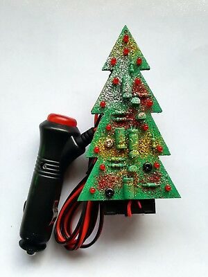Christmas Tree with Flashing LEDs for your Car or Home (miniature)
