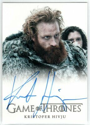 Game Of Thrones Season 4 Kristofer Hivju As Tormund Giantsbane Autograph Limited
