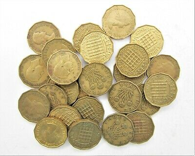 10 British Brass 3D Bulk Buy From 1937-67 Choose Your Amount Free Uk Post