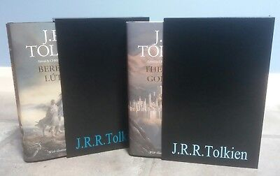 SIGNED + Slipcased, Beren And Luthien + The Fall Of Gondolin, 1st Print, Tolkien