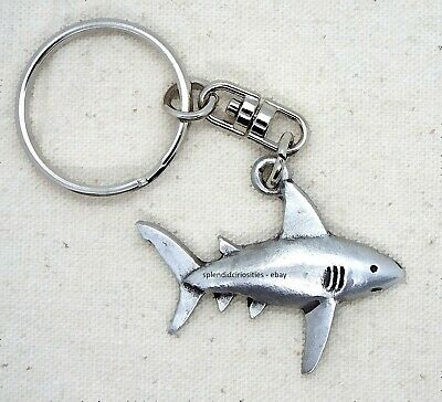 Shark Pewter Keyring in Gift Pouch